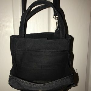 Small black fabric bag
